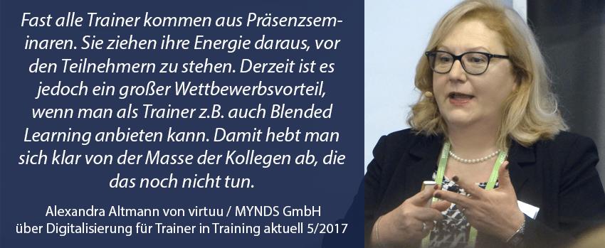 Alexandra Altmann Artikel in Training aktuell