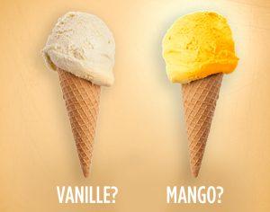 vanille oder mango Stärken